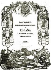 portada diccionario de Madoz