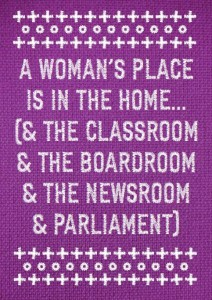 cartaz dia da muller 2013