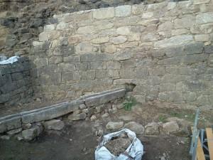exterior da cerca da rocha forte